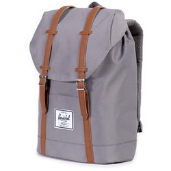 Herschel Supply Company Retreat Backpack | Grey/Tan Synthetic Leather