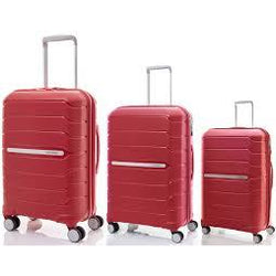 Samsonite Octolite Set of 3 Spinners | Red 55cm/68cm/75cm