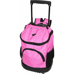 Tosca Round Base Trolley Backpack | Pink