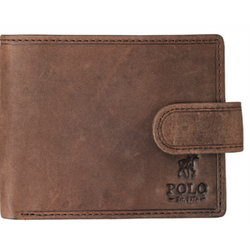 Polo Hamada Leather Tab Wallet with RFID