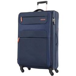 American Tourister Ski 82cm Large Spinner Expandable | Navy/Orange