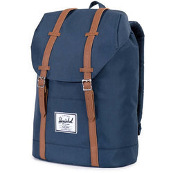 Herschel Supply Company Retreat Backpack | Navy/Tan Synthetic Leather