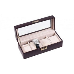 Caramia Tiffany Watch Box 4- Espresso Brown