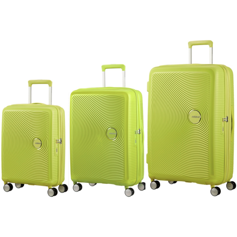 American Tourister Soundbox Set of 3 Spinners | Tropical Lime