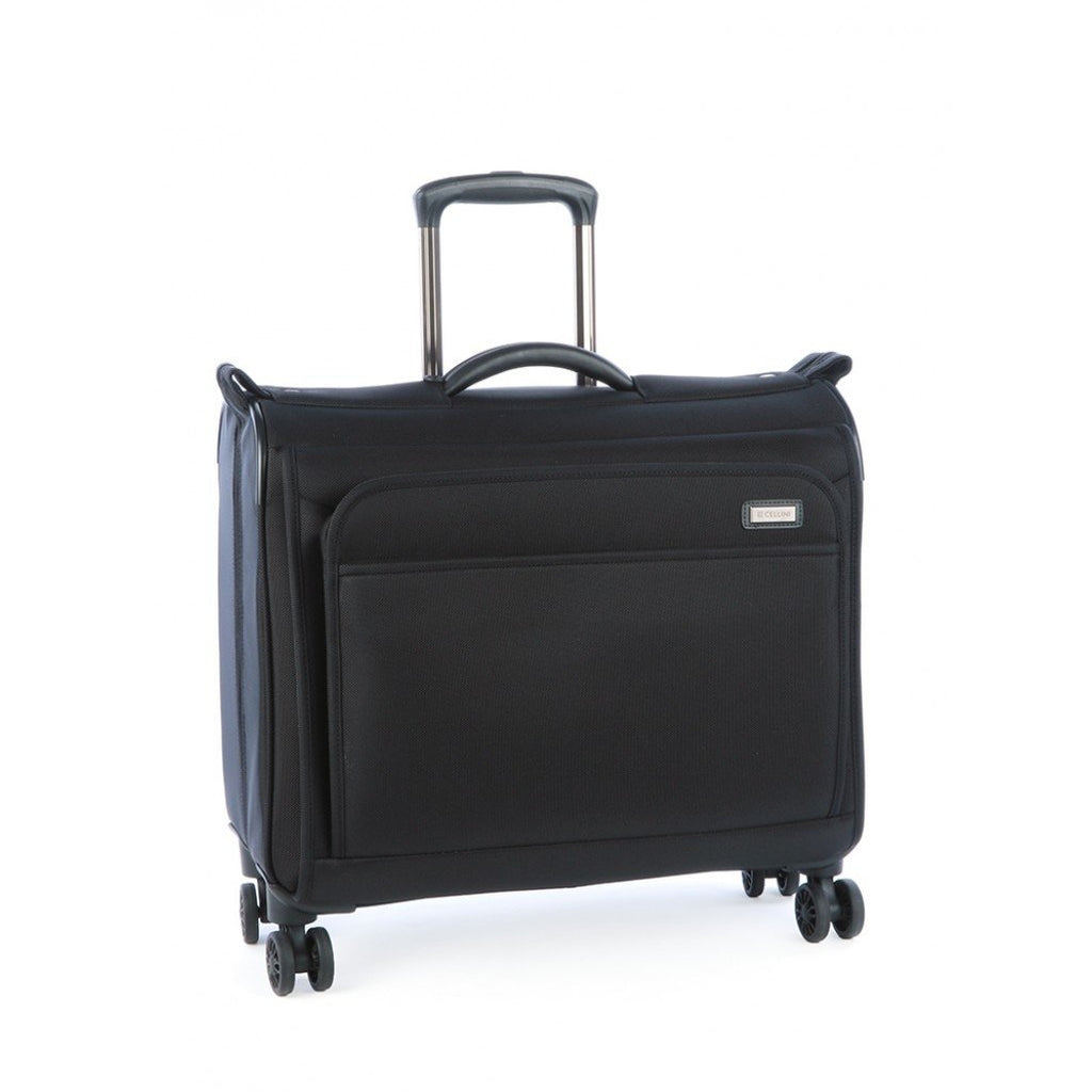 Cellini Lusso 480mm 4 Wheel Garment Bag | Black