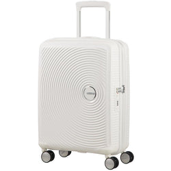 American Tourister Soundbox Spinner Expandable 55cm | Pure White