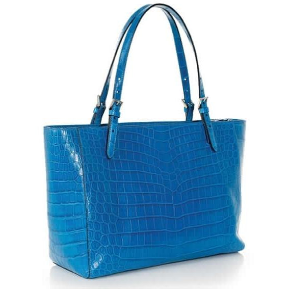 Zambezi Grace The Isabella Handbag | Aqua Blue (Genuine Crocodile Leather)