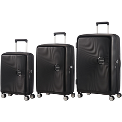 American Tourister Soundbox Set of 3 Spinners | Bass Black