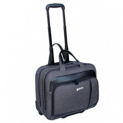 TravelMate Polyester Laptop Trolley Bag | Grey