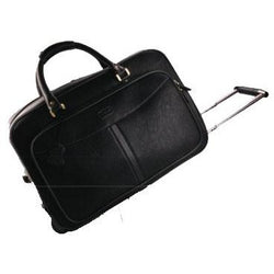 Monaco Leather Rolling Duffel Bag on Wheels