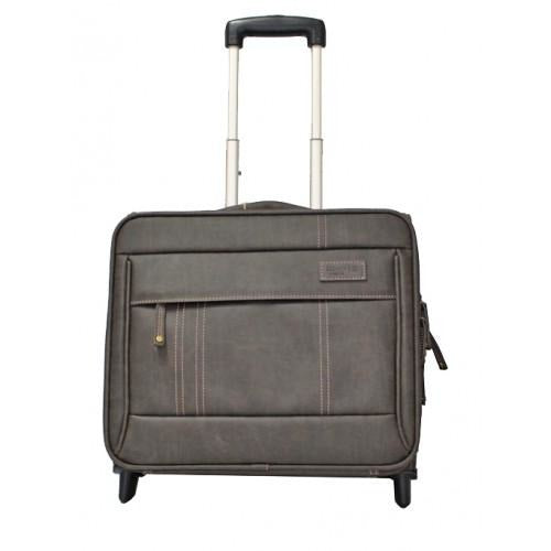 Troop Suede Laptop Trolley | Brown