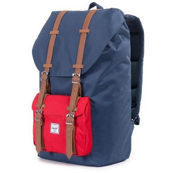 Herschel Supply Company Little America Backpack | NAVY/RED/TAN PU
