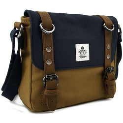 Troop London Cross Body Bag | Navy/Mustard