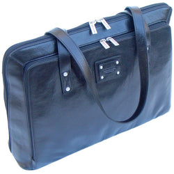 Gino De Vinci Leather Ladies Computer Bag | Black