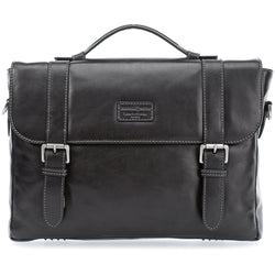 JEKYLL & HIDE Montana 15'' Briefcase with Laptop Compartment | Black