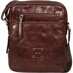 Polo Coyote Leather Crossbody Sling Brown