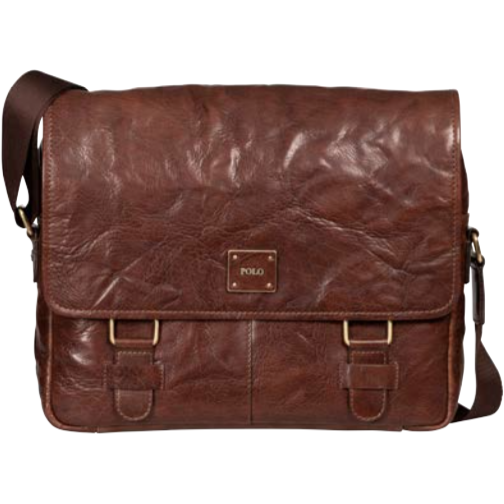 Polo Coyote Leather Messenger Bag Brown