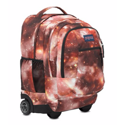 JanSport Driver 8 Wheeled Backpack | Multi-Red Galaxy