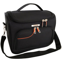 Tosca Gold Ultralight Softy Vanity Case | Black/Orange