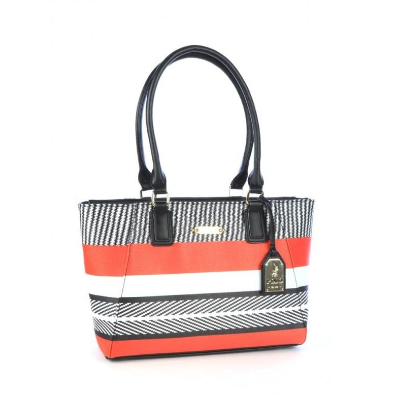 Polo Basket Weave Tote Bag | Black