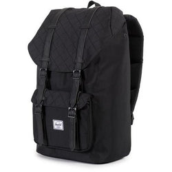Herschel Supply Company Little America Backpack | Black Quilted/Black Synthetic Rubber