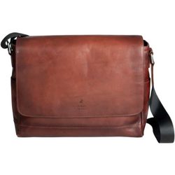 Polo Hudson Leather Messenger Bag Brown