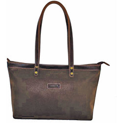 Troop London Ladies Leather Shoulder Bag | Brown