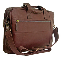 Gino De Vinci Columbia Leather Laptop Shoulder Bag