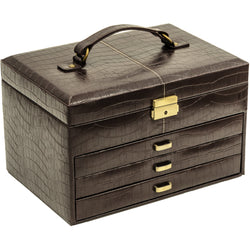 CaraMia Tiffany Jewellery Box M | Espresso Brown