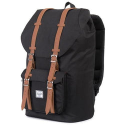 Herschel Supply Company Little America Backpack | Black/Tan Synthetic Leather