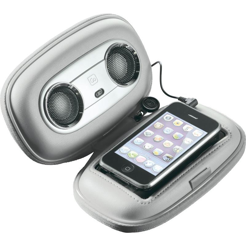 Go Travel Speaker Case Silver