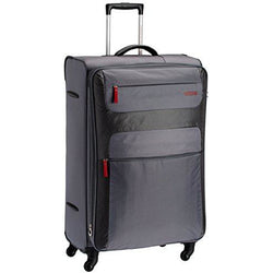 American Tourister Ski 82cm Large Spinner Expandable | Grey/Red