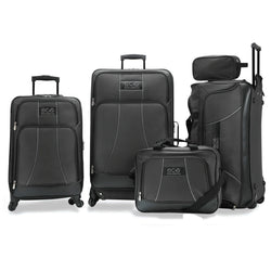 Eco Earth Barcelona 5 Piece Luggage Set | Black