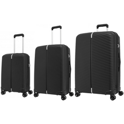 Samsonite Varro Set of 3 Expandable Spinners | Black