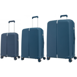 Samsonite Varro Set of 3 Expandable Spinners | Peacock Blue