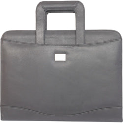 Ohio Leather Portfolio with Drop Handles | Black