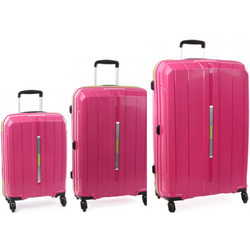 Cellini Cancun Hardshell Set of 3 Trolley Cases Pink