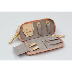 CaraMia Chloe Cosmetic Jewel Case Dusty Pink Stingray