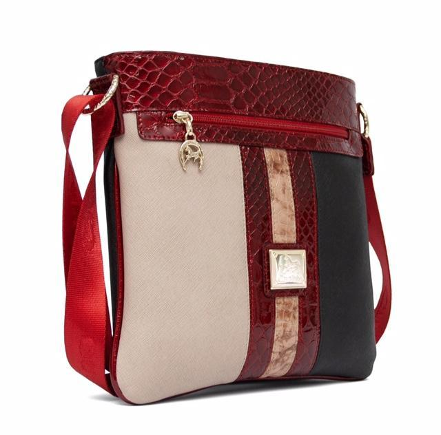 Cavalinho Beige Red Navy Sling Bag