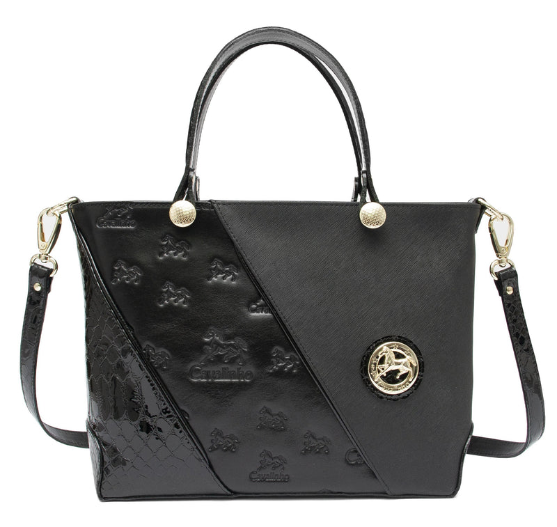 Cavalinho Black Leather Handbag