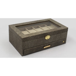 CaraMia Ella Watch Box And Valet Stingray Grey