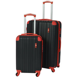 Eco Earth San Juan 2 piece ABS luggage set | Red