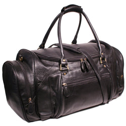 Nouveau Fiji Overnight  Leather Duffel Bag Black