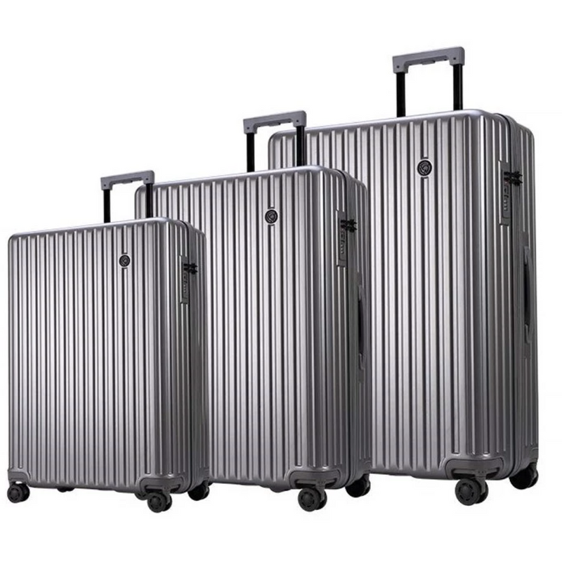Conwood Globus Set of 3 Luggage Set Silver