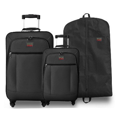 a73dc2578c19 Eco Earth Havana 2 Piece Luggage Set including Suit Cover Carry Bag