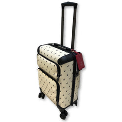 Polo Classic Double Pack Cabin 4 Wheel Trolley Case with 2 Front Zip Pockets Beige