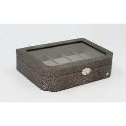 CaraMia Jamie Watch Box 10 | Black Stringray
