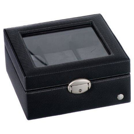 Caramia Lexi Watch Box 6 | Black Carbon Fiber