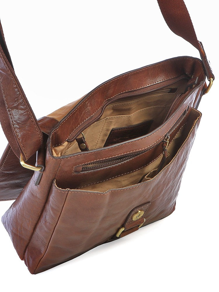 Polo Coyote Leather Crossbody Digital Organiser Brown - iBags.co.za