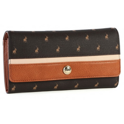 Polo Heritage Clutch Purse Brown